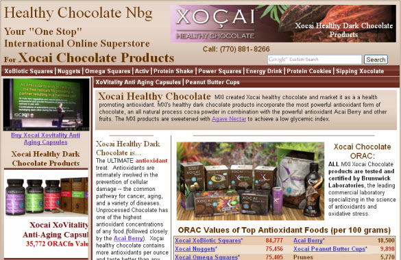 Xocai Healthy Chocolate Nbg